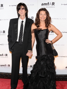 Ric Ocasek and Paulina Porizkova attend the amfAR New York Gala to kick off Fall 2010 Fashion Week at Cipriani 42nd Street on February 10, 2010