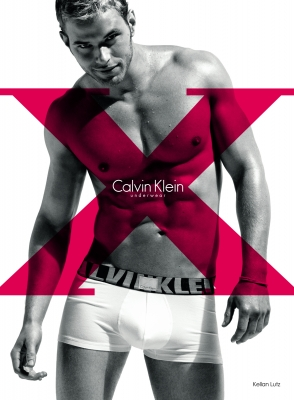 Kellan Lutz in an ad for Calvin Klein's X underwear line