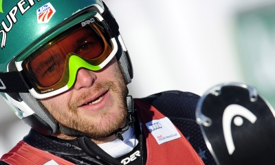 Bode Miller after the FIS Ski World Cup Men's Super Combined, December 11, 2009 in Val-D'Isere, French Alps.