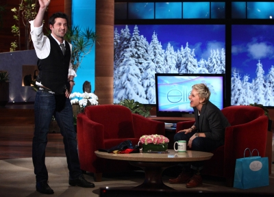 Patrick Dempsey visits &#8216;The Ellen DeGeneres Show&#8217; on February 10, 2010