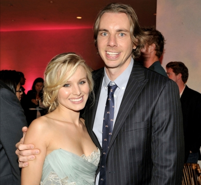 Kristen Bell and Dax Shepard at the afterparty for the premiere of Universal Pictures' 'Couples Retreat' at the Hammer Museum on October 5, 2009 in Westwood, Los Angeles, California