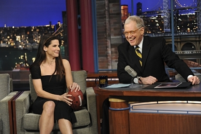Sandra Bullock stops by 'The Late Show with David Letterman' on Feburary 8, 2010