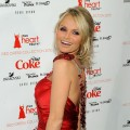 Kristin Chenoweth poses backstage at the Heart Truth Fall 2010 Fashion Week show, Bryant Park, NYC, February 11, 2010