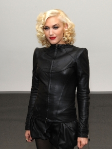 The stunning Gwen Stefani poses at the L.A.M.B Fall 2010 Fashion Presentation during Mercedes-Benz Fashion Week at Milk Studios in New York City on February 11, 2010