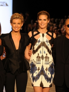 Nina Garcia, Faith Hill, Heidi Klum and Michael Kors walks the runway at the Project Runway Fall 2010 Fashion Show during the Mercedes-Benz Fashion Week, NYC, February 12, 2010
