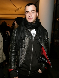 &#8216;Parks and Recreation&#8217; guest-star Justin Theroux steps out at the Band of Brothers - Boy Presentation at Mercedes-Benz Fashion Week at Bryant Park in New York City on February 13, 2010