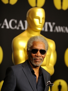 Actor Morgan Freeman poses at the 82nd annual Academy Awards Nominee Luncheon at Beverly Hilton Hotel on February 15, 2010 in Los Angeles, California.