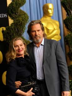 Actor Jeff Bridges and wife Susan Bridges pose at the 82nd annual Academy Awards Nominee Luncheon at Beverly Hilton Hotel on February 15, 2010 in Los Angeles, California.
