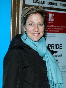 &#8216;Nurse Jackie&#8217;s&#8217; Edie Falco attends the opening night of &#8216;The Pride&#8217; off-Broadway at the Lucille Lortel Theatre, NYC, February 16, 2010