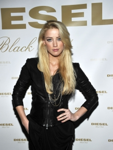 Amber Heard, of the upcoming 'The Rum Diaries,' at the Diesel Black Gold Show's private after party for Fall 2010 New York Fashion Week