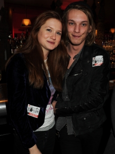 Bonnie Wright and Jamie Campbell Bower attend the afterparty following the cast change of 'Waiting For Godot' at the Haymarket Hotel on January 27, 2010 in London, England