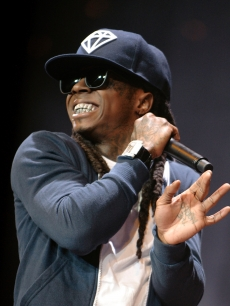 Lil Wayne rocks the mic in January 2010