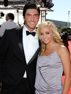 Evan Lysacek and Nastia Liukin arrive at the 2009 ESPY Awards held at Nokia Theatre LA Live in Los Angeles, California on July 15, 2009