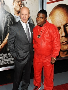 Bruce Willis and Tracy Morgan attend the premiere of 'Cop Out' at AMC Loews Lincoln Square 13, NYC, February 22, 2010