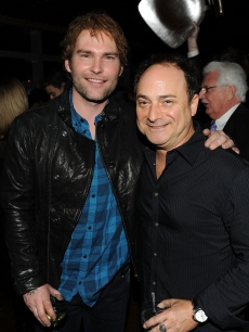 Seann William Scott and Kevin Pollak attend the after party for the 'Cop Out' premiere at Landmarc on February 22, 2010 in New York City