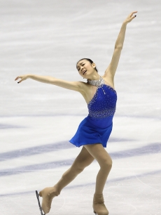 Kim Yu-na performs at the ISU Grand Prix of Figure Skating Final on Day 3 on December 5, 2009