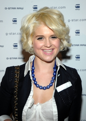 A blonde Kelly Osbourne attends the G-Star Raw show at New York Fashion Week, NYC, February 16, 2010