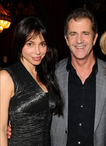 Oksana Grigorieva and Mel Gibson attend the Chernobyl Children's Project International Benefit at Romanov Restaurant & Lounge in Studio City, California on February 11, 2010