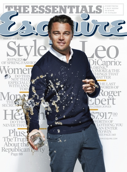 Leonardo DiCaprio on the cover of Esquire's March 2010 issue