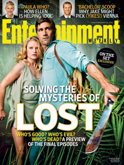 'Lost' stars Emilie de Ravin and Matthew Fox grace the cover of Entertainment Weekly