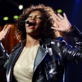 Whitney Houston performs on stage at Acer Arena in Sydney, Australia on February 24, 2010