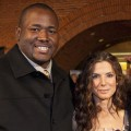 Quinton Aaron and Sandra Bullock attend &#8216;The Blind Side&#8217; benefit premiere at the Prytania Theatre in New Orleans, Louisiana on November 19, 2009