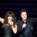 Marie Osmond and Donny Osmond perform in the &#8216;Donny &amp; Marie&#8217; variety show at the Flamingo Las Vegas December 3, 2008 in Las Vegas, Nevada