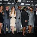 The cast and crew of 'Precious' celebrate their sweep backstage at the Independent Spirit Awards in LA on March 5, 2010