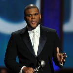 Tyler Perry accepts the Chairman Award onstage during the 41st NAACP Image Awards held at The Shrine Auditorium, Los Angeles, February 26, 2010