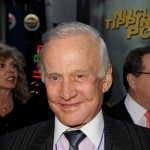 Buzz Aldrin arrives at the premiere of 'Nuclear Tipping Point' at Universal Studios Hollywood on January 27, 2010