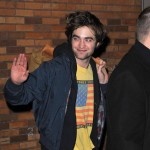Robert Pattinson waves to fans in New York City on March 2, 2010