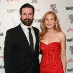 Jonn Hamm and Jennifer Westfeldt walk the red carpet at Artists for Peace and Justice held at Bar Nineteen 12 in Beverly Hills, California on March 3, 2010