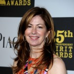 Dana Delany gets colorful on the blue carpet at the 25th Film Independent Spirit Awards in LA on March 5, 2010