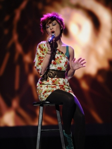 Lacey Brown performs Stevie Nicks' 'Landslide' on the first week of live singing on 'American Idol' Season 9, February 23, 2010