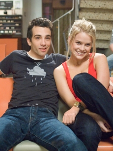 Jay Baruchel and Alice Eve in a happy moment from 'She's Out Of My League' (2010)