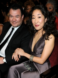 'Glee's' Patrick Gallagher and 'Grey's' star Sandra Oh smile during the NAACP Image Awards, Los Angeles, February 26, 2010