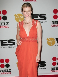 Amy Smart attends the 8th Annual Visual Effects Society Awards at Hyatt Regency Century Plaza in Century City, California on February 28, 2010 