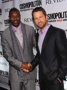 Terrell Owens and Gerard Butler attend Cosmopolitan Magazine's Fun Fearless Males of 2010 at the Mandarin Oriental Hotel, NYC, March 1, 2010