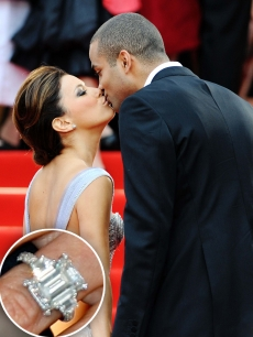 Eva Longoria Parker and husband Tony Parker attend the 'Bright Star' Premiere during the 62nd Annual Cannes Film Festival in Cannes, France on May 15, 2009