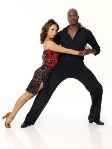 Cheryl Burke and Chad Ochocinco pose for their &#8216;Dancing&#8217; Season 10 cast shot