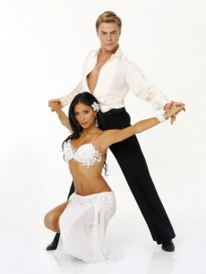 Nicole Scherzinger and Derek Hough pose for their &#8216;Dancing&#8217; Season 10 cast shot