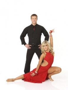 Jake Pavelka and Chelsie Hightower pose for their 'Dancing' Season 10 cast shot