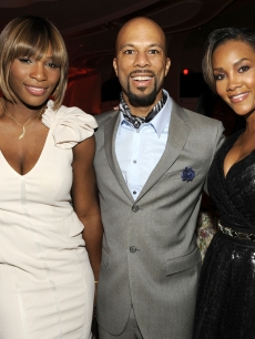 Serena Williams, Common and  Vivica A. Fox at the third annual Essence Black Women in Hollywood Luncheon at the Beverly Hills Hotel on March 4, 2010