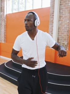 Chad Ochocinco listens for the beat during his &#8216;Dancing with the Stars&#8217; Season 10 rehearsals