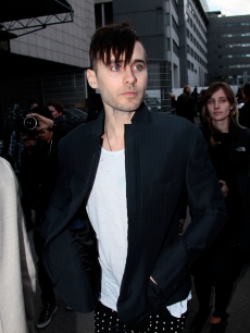 Jared Leto arrives at the Lanvin Ready to Wear show, Paris, March 5, 2010