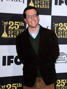 Ed Helms makes the scene on the blue carpet at the 25th Film Independent Spirit Awards in LA on March 5, 2010