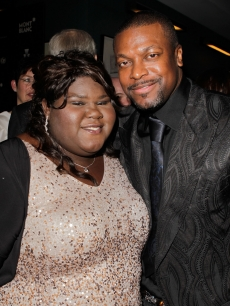 Gabourey Sidibe and Chris Tucker attend the Montblanc Charity Cocktail hosted by The Weinstein Company to benefit UNICEF held at Soho House on March 6, 2010 in West Hollywood, Calif.