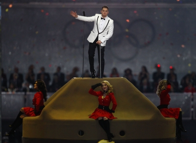 Michael Buble performs during the Closing Ceremony of the 2010 Winter Olympics at BC Place on February 28, 2010 in Vancouver
