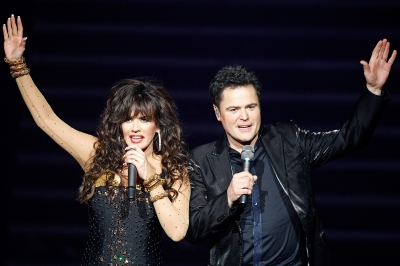 Marie Osmond and Donny Osmond perform in the 'Donny & Marie' variety show at the Flamingo Las Vegas December 3, 2008 in Las Vegas, Nevada