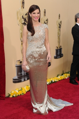 Sandra Bullock sports gold at the 82nd Annual Academy Awards held at Kodak Theatre in Hollywood, California on March 7, 2010